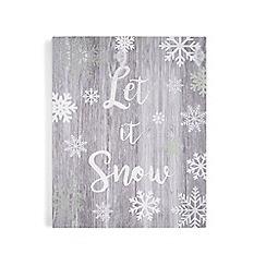 Graham & Brown - Grey  Let it Snow Print Wall Art