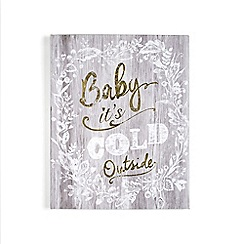 Graham & Brown - Grey baby its cold outside print wall art