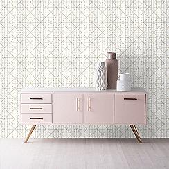 Kelly Hoppen - Gold 'Linear' Designer Wallpaper