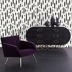 Kelly Hoppen - Black and White 'Linear' Designer Wallpaper