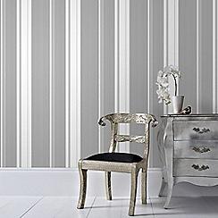 Superfresco Easy - Silver Gradient Stripe Wallpaper