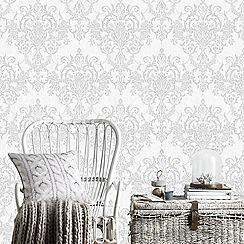 Superfresco Easy - Silver venetian damask wallpaper