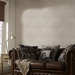 Superfresco Easy - Rose gold victorian damask wallpaper
