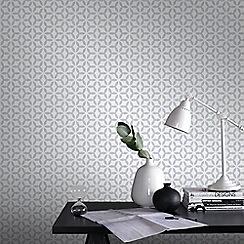 Superfresco Easy - Silver Helice Wallpaper