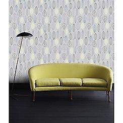 Superfresco Easy - Lilac Scandi leaf floral wallpaper