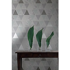 Graham & Brown - Mint Reflections Geometric Wallpaper