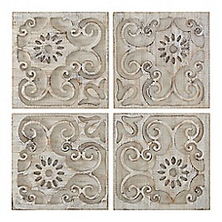 Graham & Brown - Neutral Moroccan Light Wood Set Of 4 Panels