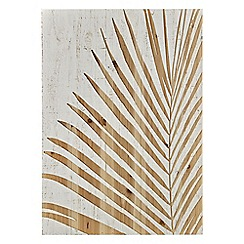 Graham & Brown - Neutral palm leaf wood panel