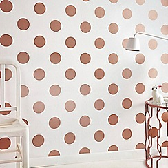 Superfresco Easy - Bronze metallic dotty geometric wallpaper