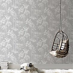 Boutique - Silver Brunei tropical wallpaper
