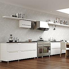 Contour - White Lustro Tiled Wallpaper