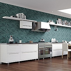 Contour - Teal Lustro Textured Tiled Wallpaper