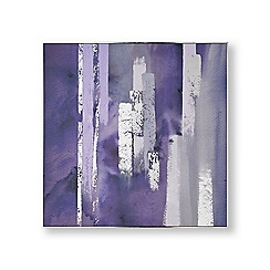 Graham & Brown - Purple harmony hand painted canvas