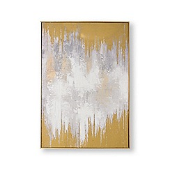 Graham & Brown - Lakeside reflection hand painted canvas