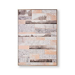 Graham & Brown - Rose quartz dimension hand painted canvas