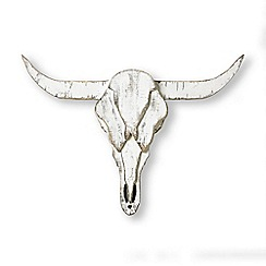 Graham & Brown - Wood ram skull metal art