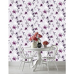 Superfresco Easy - Purple x-ray floral wallpaper