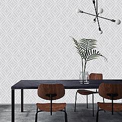 Superfresco Easy - Grey glitz geo wallpaper