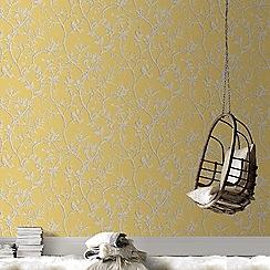 Superfresco Easy - Gold laos trial floral wallpaper