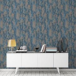 Boutique - Turquoise boutique industrial texture wallpaper