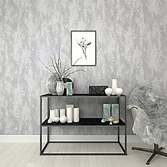 Boutique - Silver boutique industrial texture wallpaper