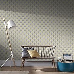 Boutique - Yellow boutique trifina geo wallpaper