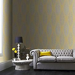 Boutique - Yellow boutique lucia floral wallpaper