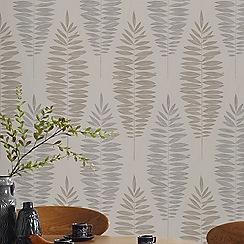 Boutique - Beige boutique lucia floral wallpaper