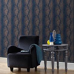 Boutique - Blue boutique vermeil stripe wallpaper