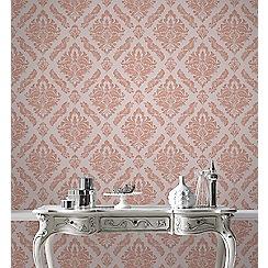 Boutique - Rose gold boutique damaris damask wallpaper