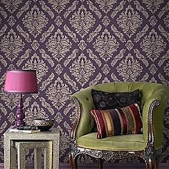 Boutique - Damson boutique damaris damask wallpaper