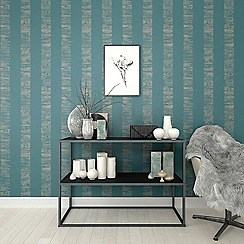 Boutique - Turquoise boutique nwg mara stripe wallpaper