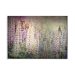 Art for the Home - Bright metallic meadow printed canvas