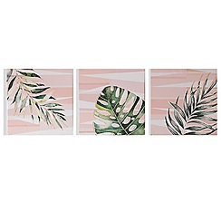 Art for the Home - Luscious leaves printed canvas