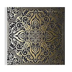 Graham & Brown - Golden souk tile printed canvas