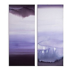 Graham & Brown - Serene blue haze printed canvas