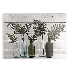 Art for the Home - Botanical bottles print on wood