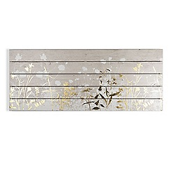 Art for the Home - Metallic wood meadow print on wood