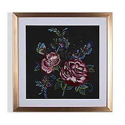 Graham & Brown - Folk floral stitched framed print