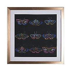 Graham & Brown - Beautiful butterflies stitched framed print