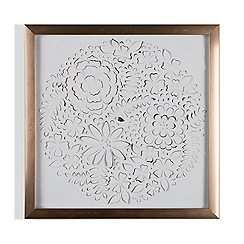 Graham & Brown - Rose gold petals framed wall art