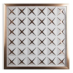 Graham & Brown - Rose gold stroma framed wall art