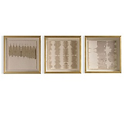 Graham & Brown - Set of 3 nautral golden tie dye framed prints