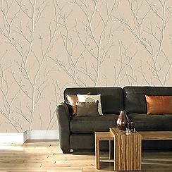 Boutique - Rose gold water silk sprig wallpaper