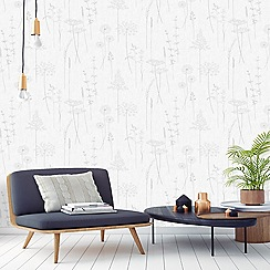 Superfresco Easy - Silver meadow wallpaper