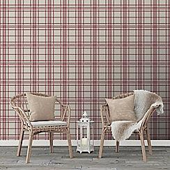 Superfresco Easy - Red country Tartan checkered wallpaper