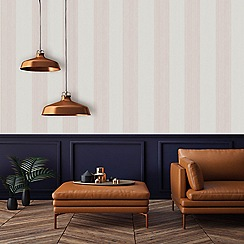 Superfresco Easy - Rose gold mercury stripe wallpaper