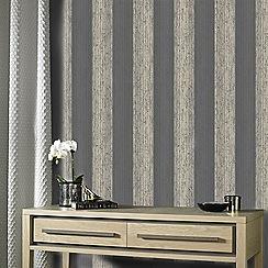 Superfresco Easy - Black & gold mercury stripe wallpaper