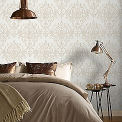Superfresco Easy - Gold victorian damask wallpaper