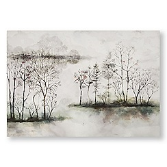 Art for the Home - Watercolour forest printed canvas